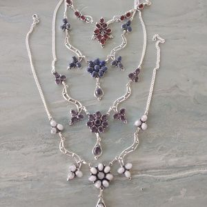 Jewelry - Beautiful necklace stamped 925 choose your stone